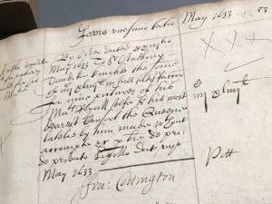 Order to pay £444 to Van Dyck (23 May 1633)