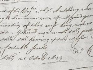 Letter to Sir John Coke (21 October 1633)