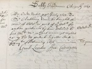 Order to pay Van Dyck £300 in part of £1,200 (12 August 1637)
