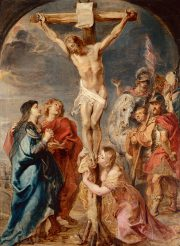 Christ on the Cross Addressing His Mother, St John and St Mary Magdalen