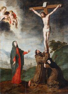 Crucifixion with the Virgin, St Francis of Assisi and St Clara