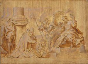 Bishop Kneeling before St Peter