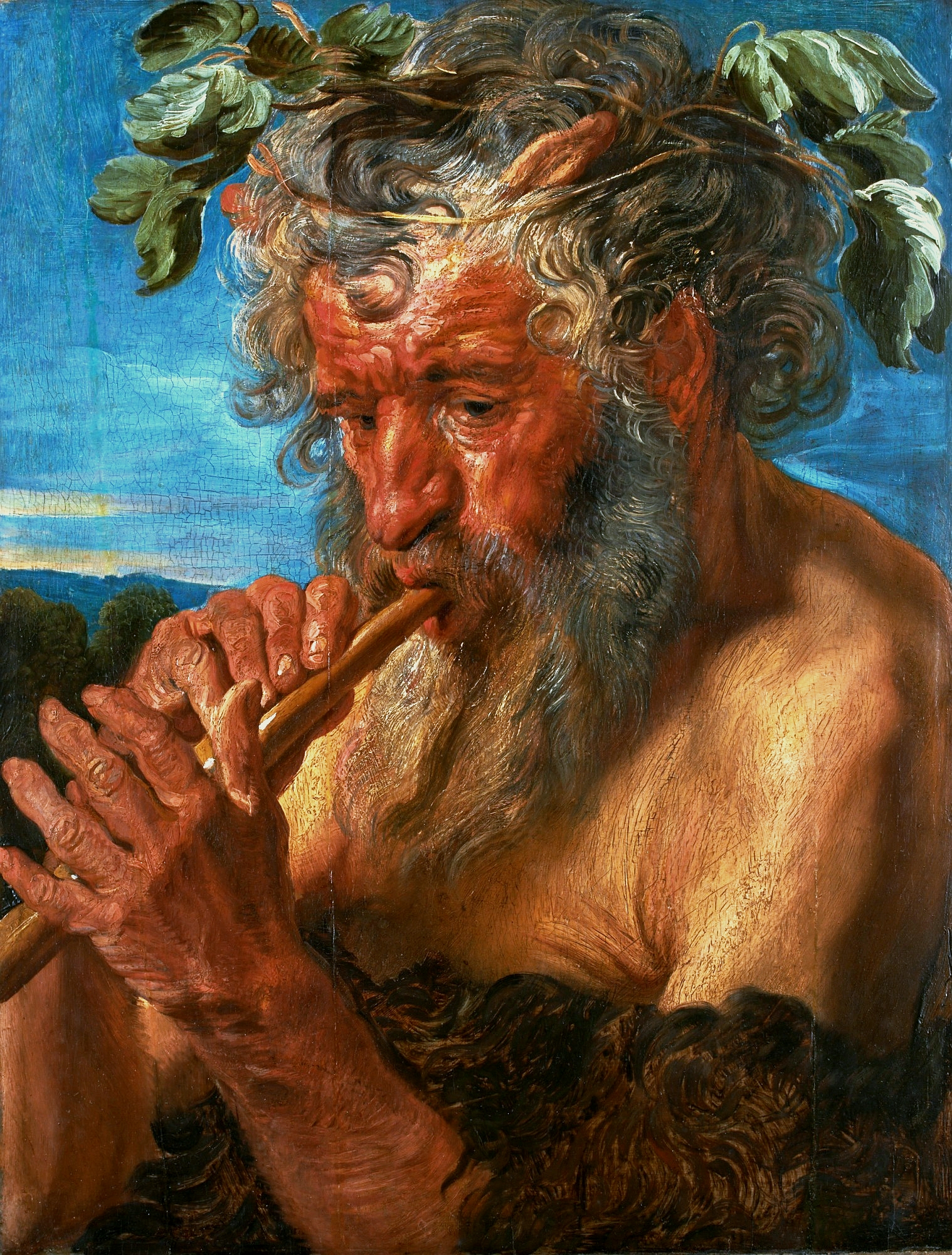 Satyr Playing a Flute