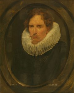 Portrait of a Man in an Oval Frame