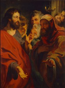 Christ instructing Nicodemus