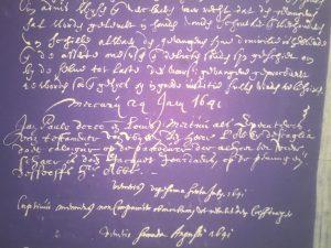 Jordaens' case against De Scaglia in the Vierschaar (24 July 1641)