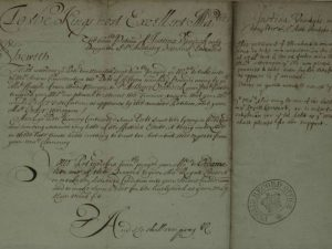 Petition of Justina Van Dyck for the post of dresser to the Queen (March 1662)