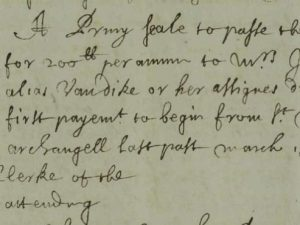 Grant to Justina of £200 per annum for life (15 March 1662)