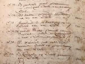 'St Peter and St Paul' in the inventory of Joan Baptista I Anthoine (28-03-1691)