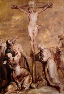 The Crucifixion with St Francis of Assissi