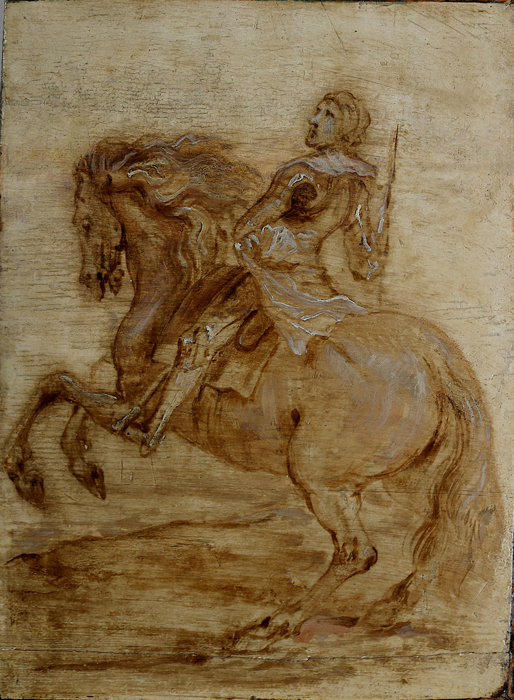 Study of a Man on a Horse