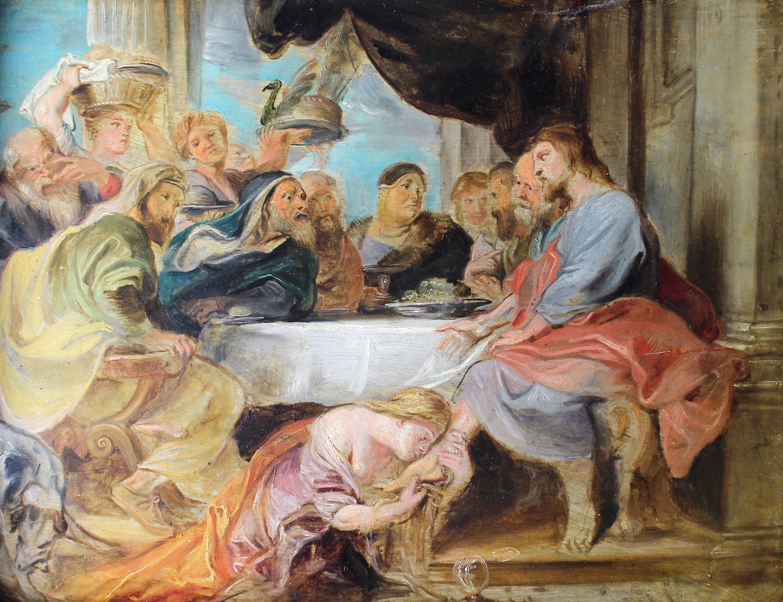 Woman Washing Christ's Feet