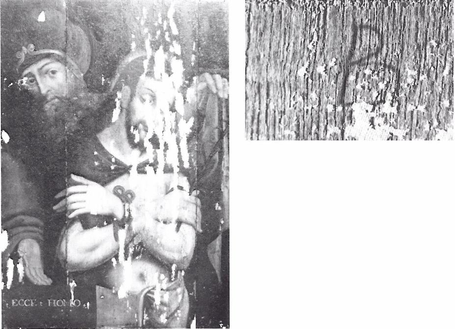 Fig. 5 - Ingebrande letter B op de keerzijde van Anonymus, Ecce Homo, Antwerpen, privé-verz. (foto: J. Van Damme).