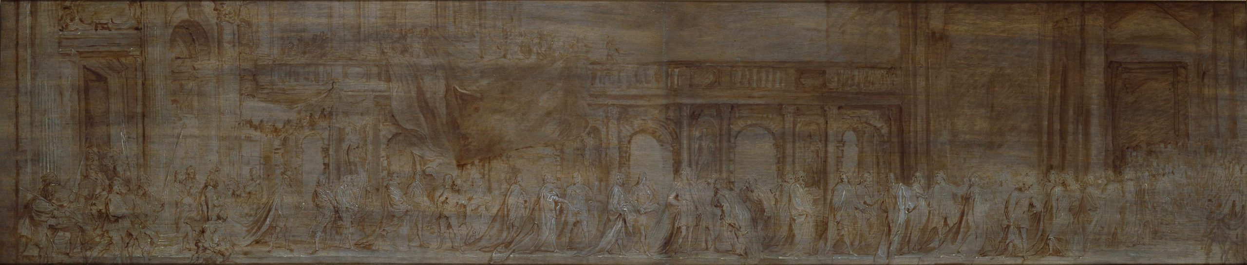 Charles I and the Knights of the Garter in Procession