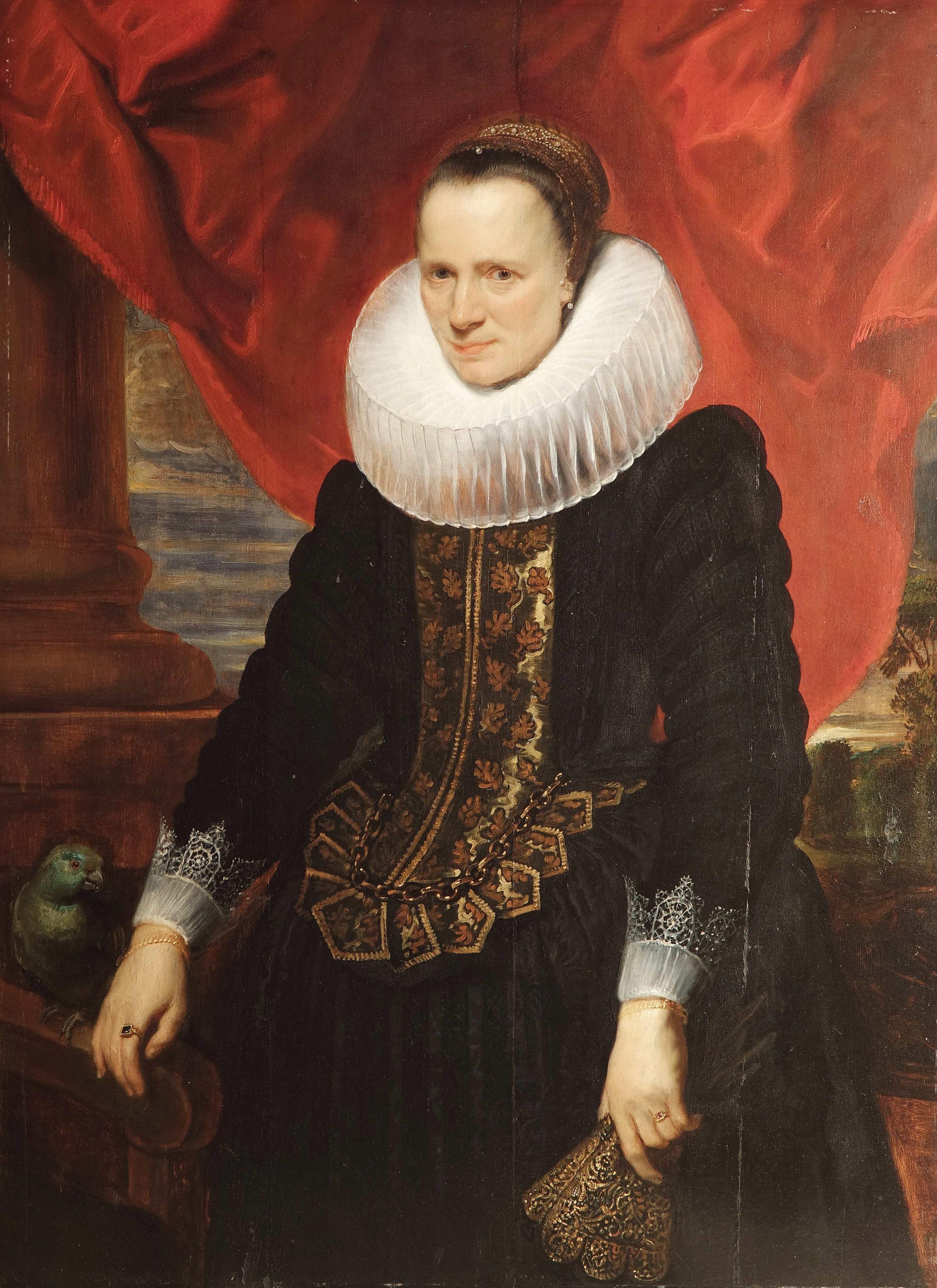Portrait of a Noblewoman with a Parrot