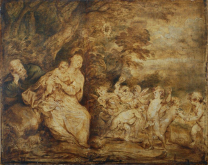 The Holy Family with Dancing Angels