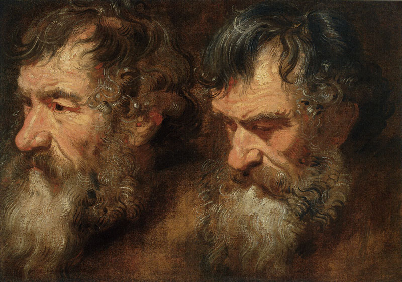 Two Studies of a Bearded Man