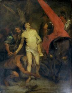 Saint Sebastian Bound for Martyrdom