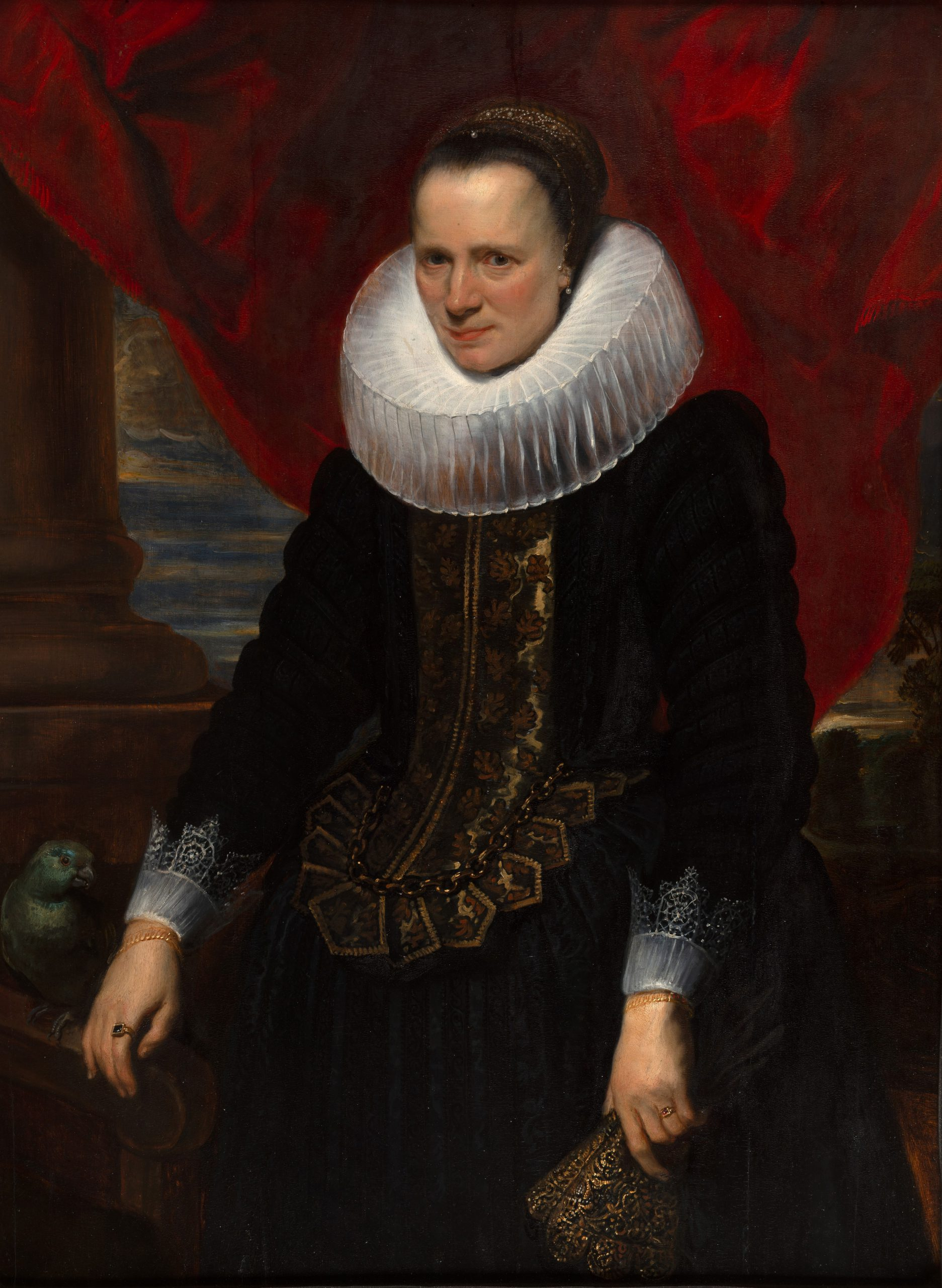 Portrait of a Lady with a Parrot