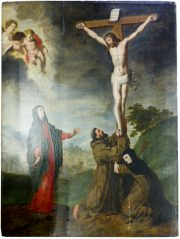 The Crucifixion with the Virgin, St Francis of Assisi and St Clara