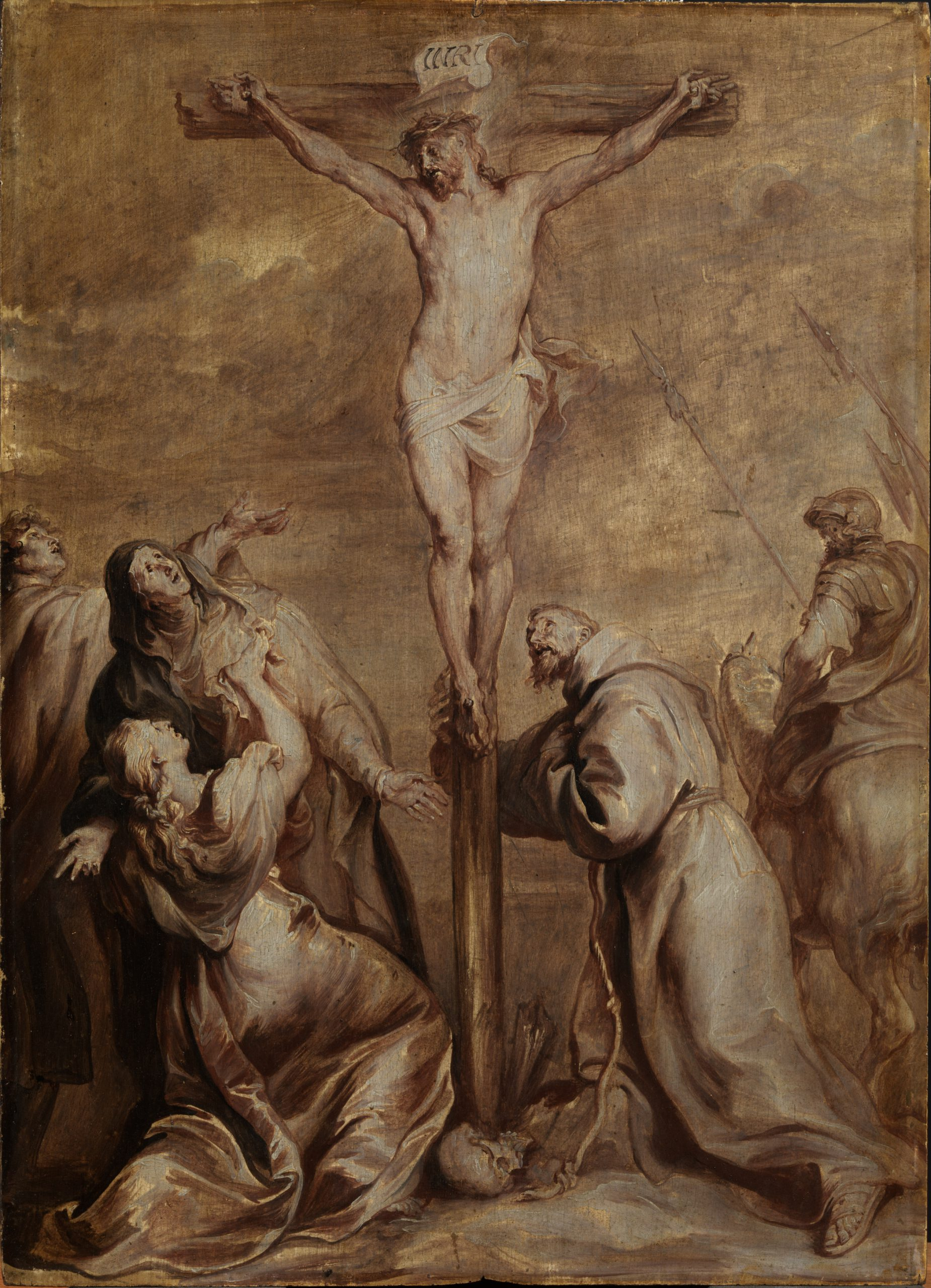 The Crucifixion with St Francis of Assisi