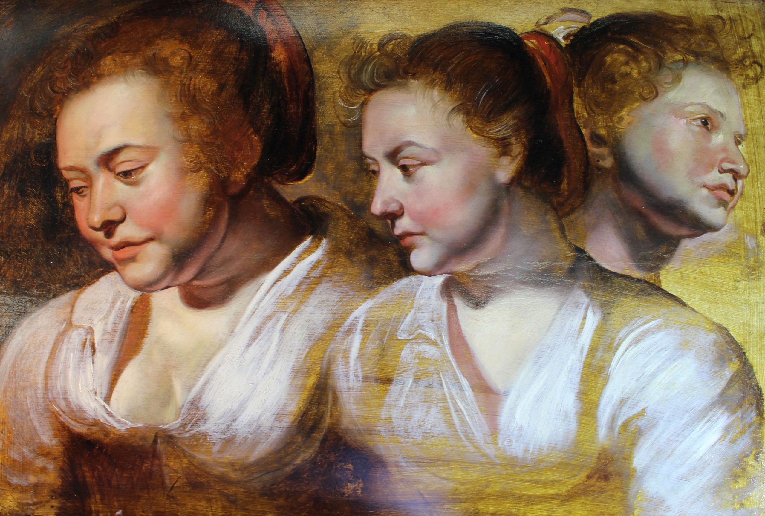 Three Head Studies of a Young Woman with a Cap