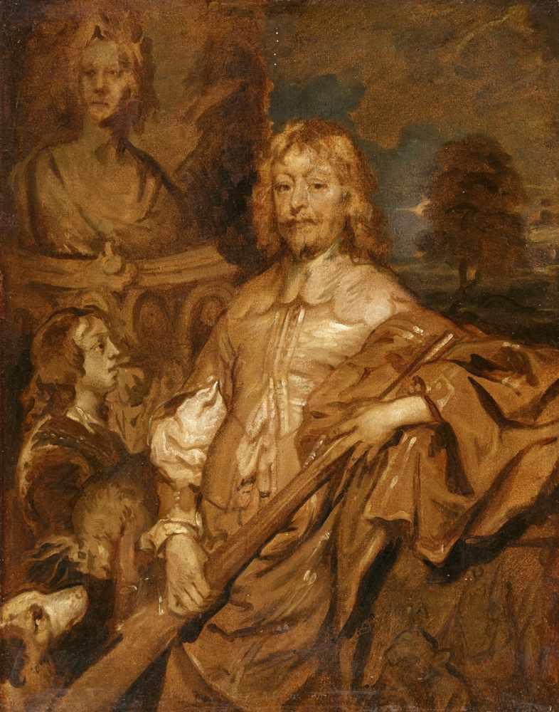 Sketch of Endymion Porter (1587-1649)